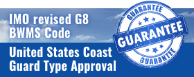 IMO revised G8 BWMS CODE - GUARANTEE